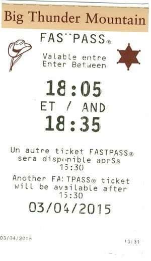 fastpass Disneyland