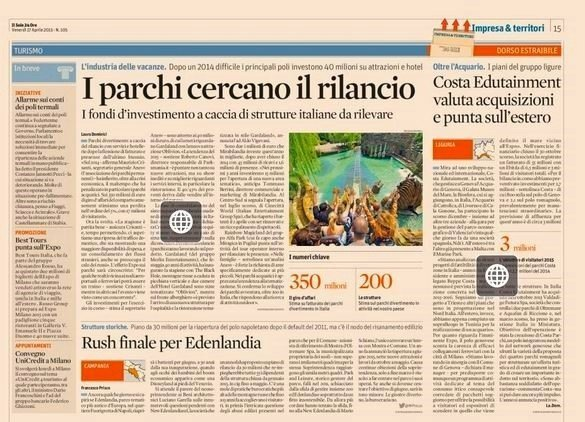 sole24ore parchi divertimento