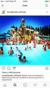 Instagram business parchi divertimento