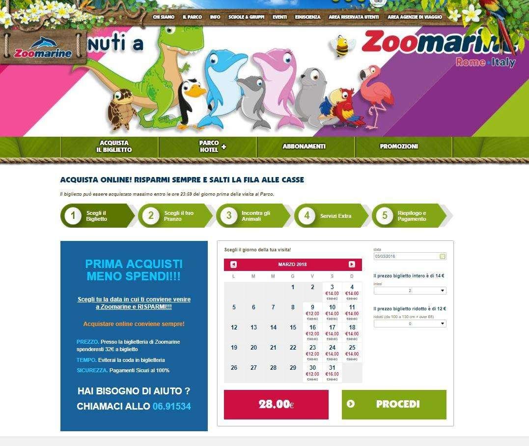 Zoomarine biglietti prezzo dinamico